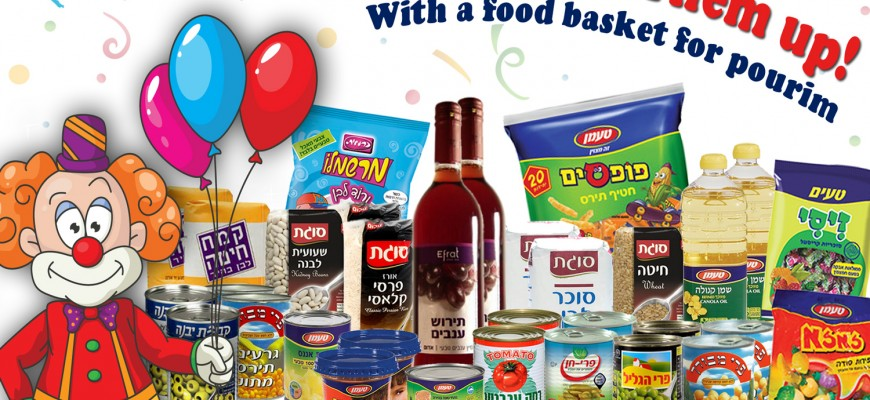 Lets Cheer Them up With a food basket for pourim