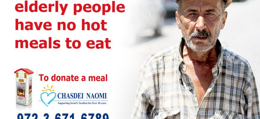 Thousands of elderly people have no hot meals to eat