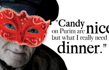 """It's nice to get candy on Purim, but what I really need is dinner"""