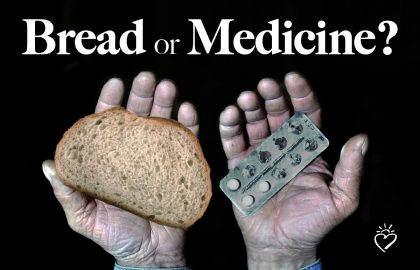 Bread or medicine? They must choose