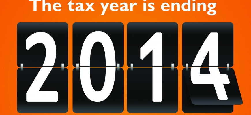 The tax year is ending